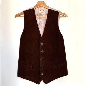 Brooks Brothers Brown Velvet 5 Button Vest